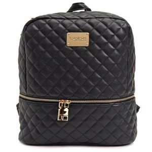 NWT bebe Danielle Quilted Black Backpack